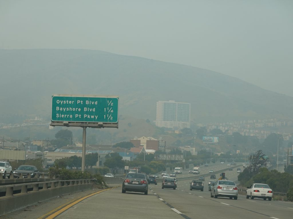 drive to SF was quite hazy