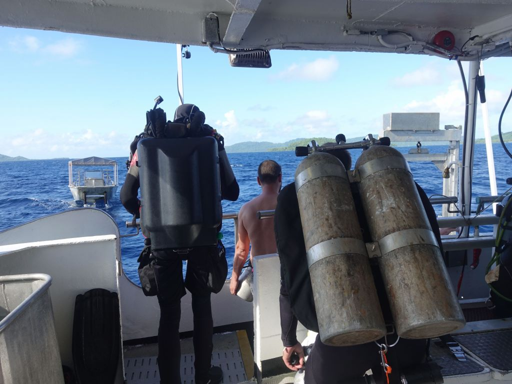 We had a fair amount of technical divers with proper dive gear, including rebreathers