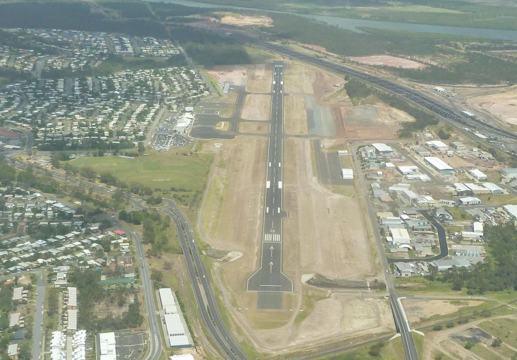 Gladstone has a single runway for the daily quantas turboprops