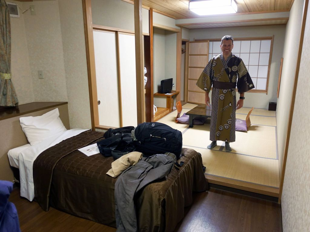 Our rooms at Ryokan Hakura were half western, half Japanese, which was a nice mix