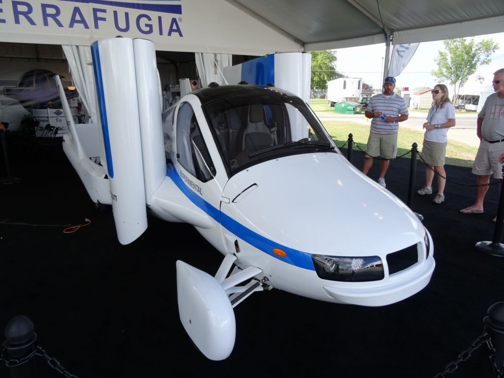 The terrafugia transition did a test flight for us