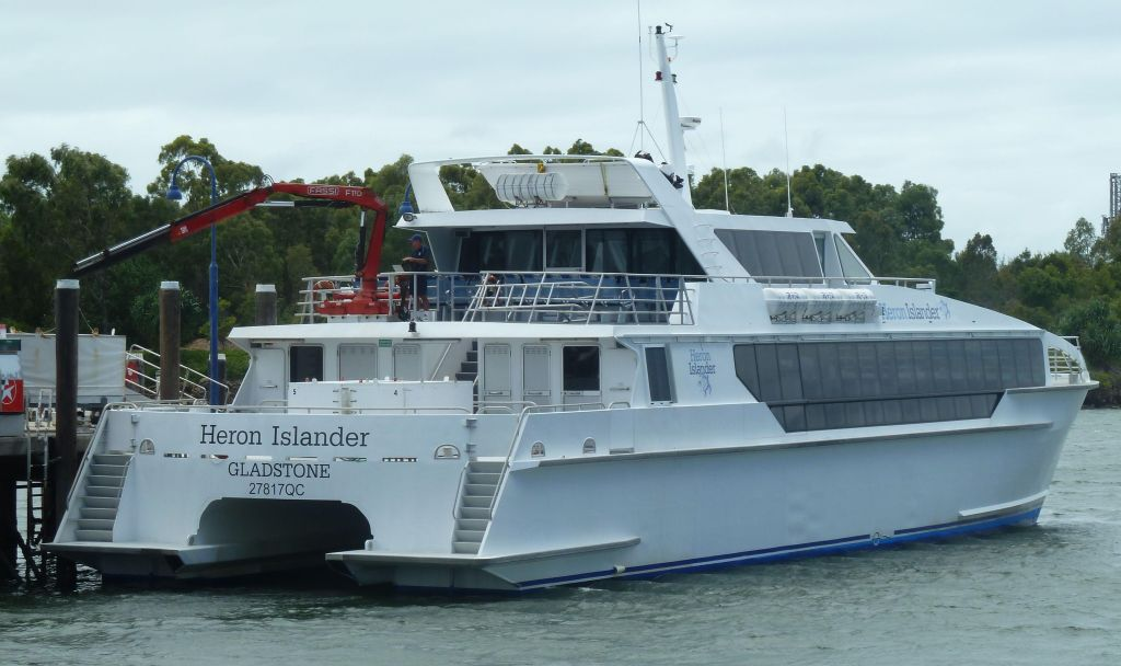 The high speed cat takes people back and forth to Heron Island