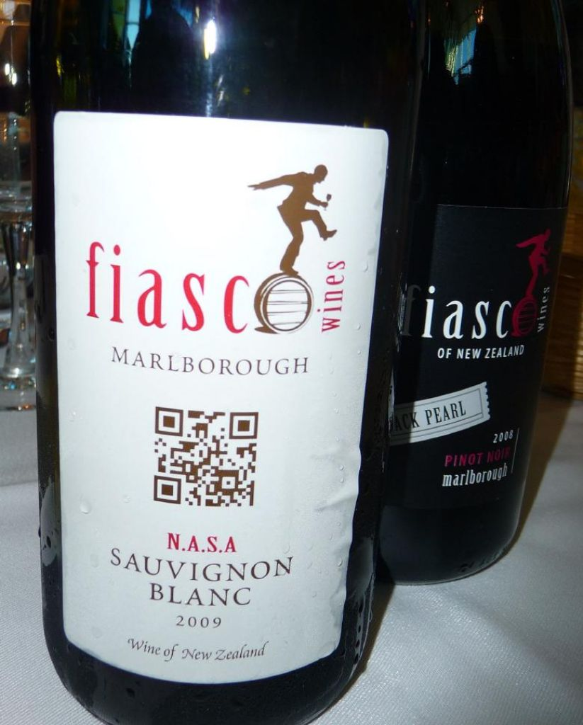 they also had wines with QR codes