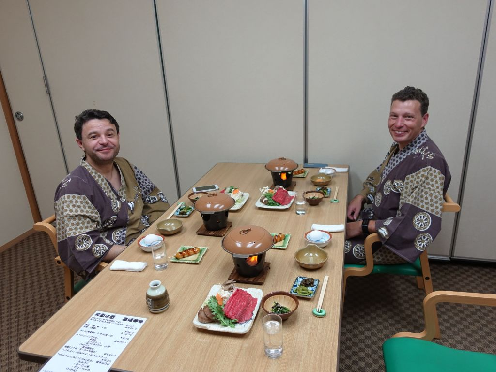 We got to enjoy a very yummy dinner in our Ryokan after our first day of skiing