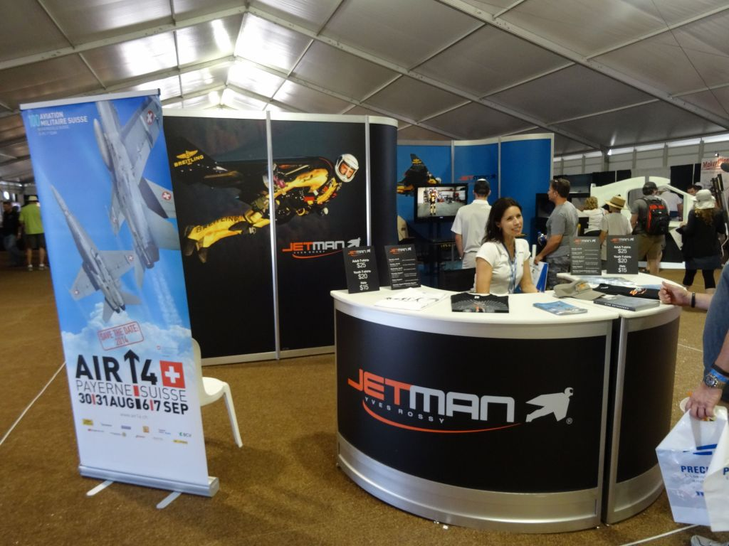 Yves Rossy had a booth about his Jetman wing