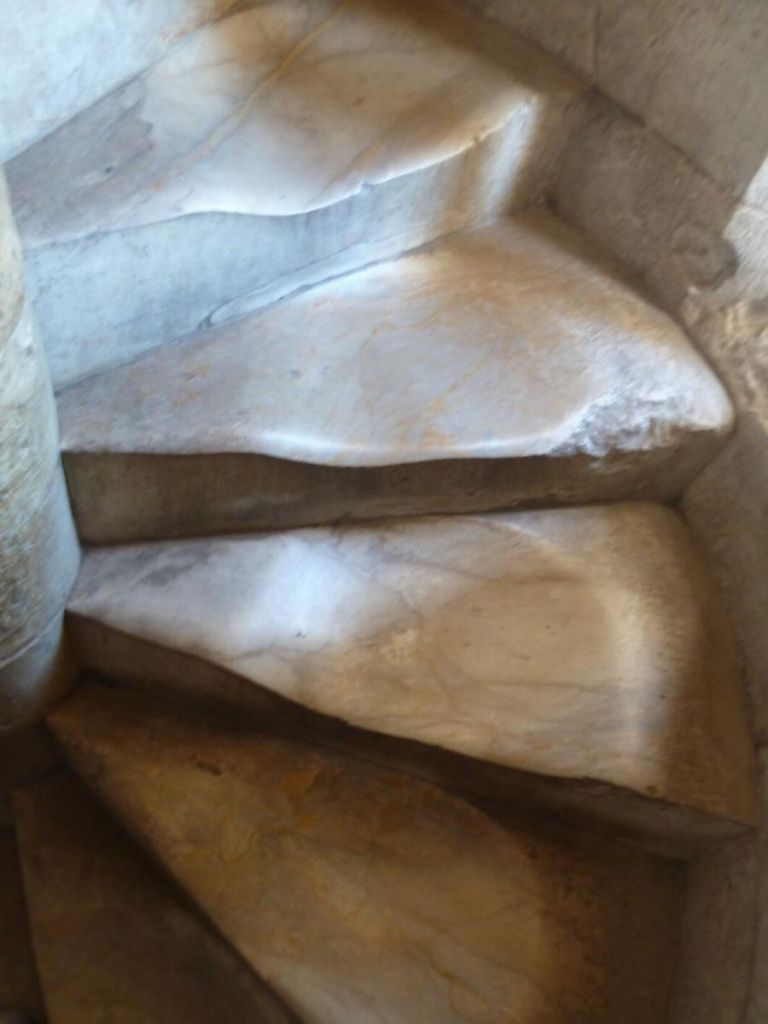 the marble stairs actually caved under the weight of all the tourists