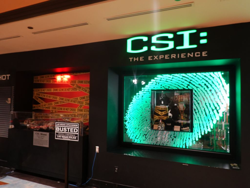 I tried the CSI experience the 2nd day. It was so-so, not sure how much longer they'll be there