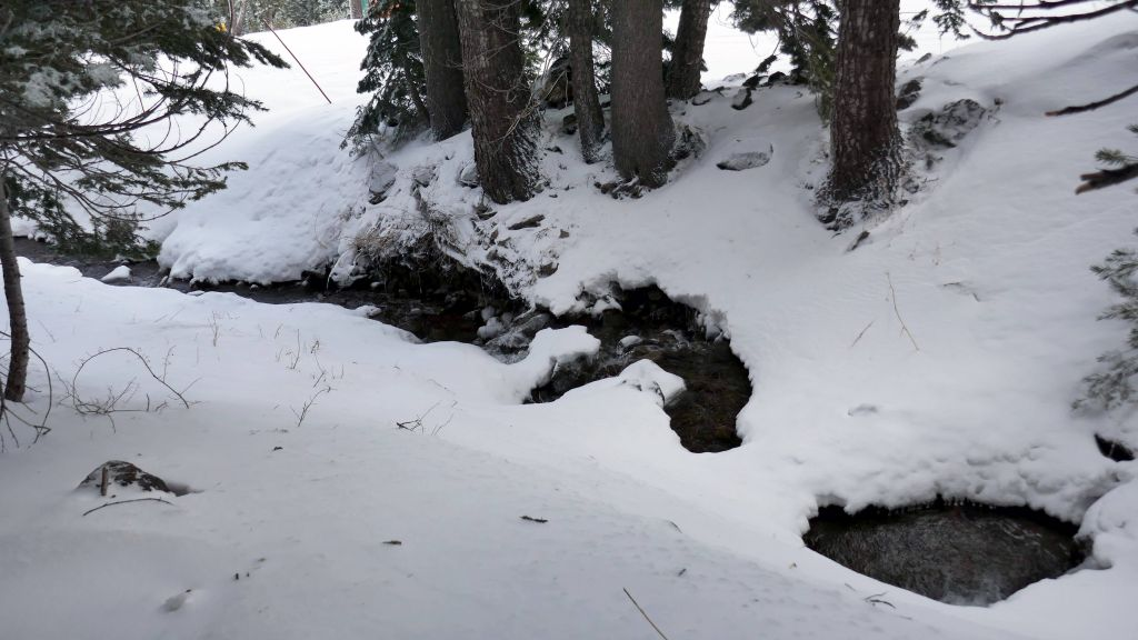 the drain was not bad, but still a bit low on snow