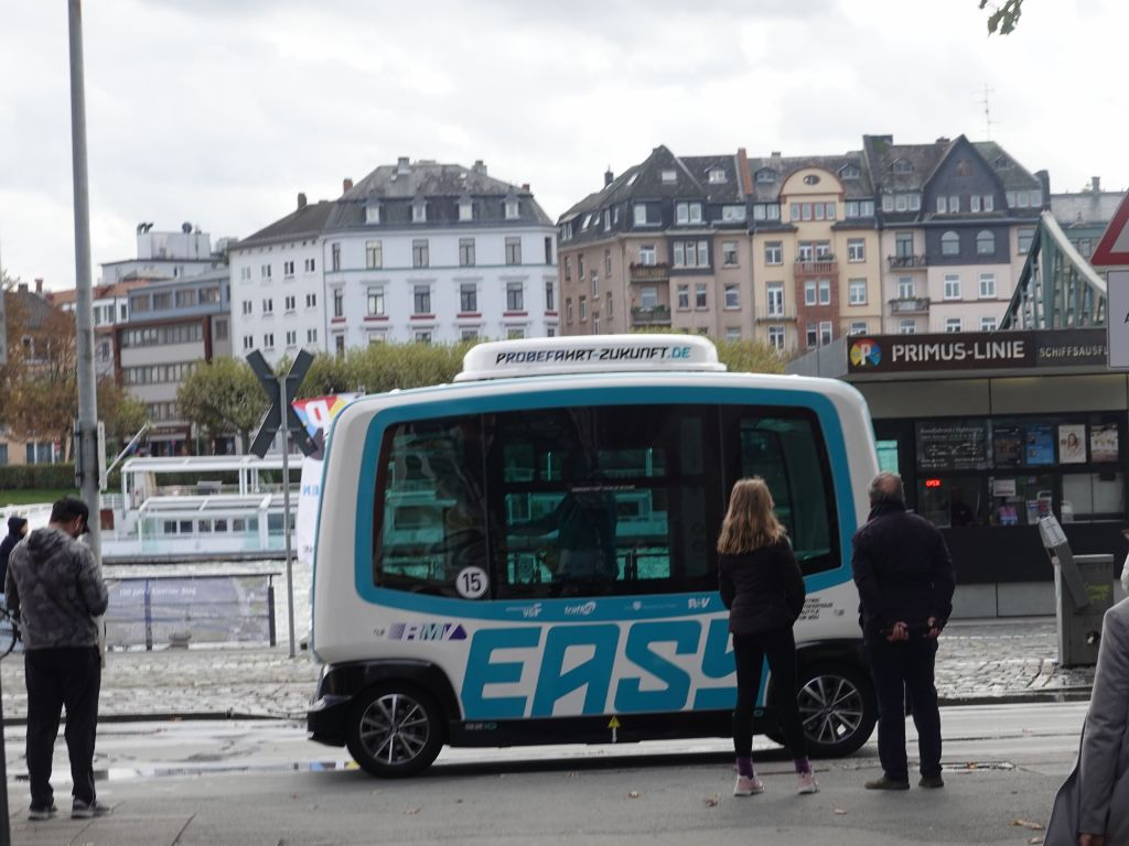 some electric autonomous bus prototype