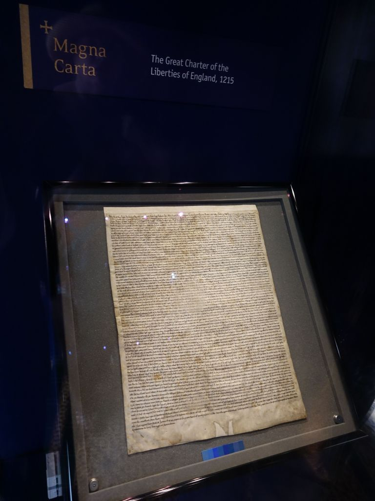one of the 4 remaining copies of the magna carta (basically making the kings be nicer to their people)
