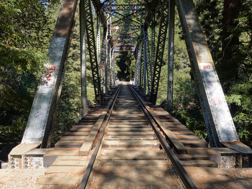 there is a redwoods steam train, we took its bridge across the river