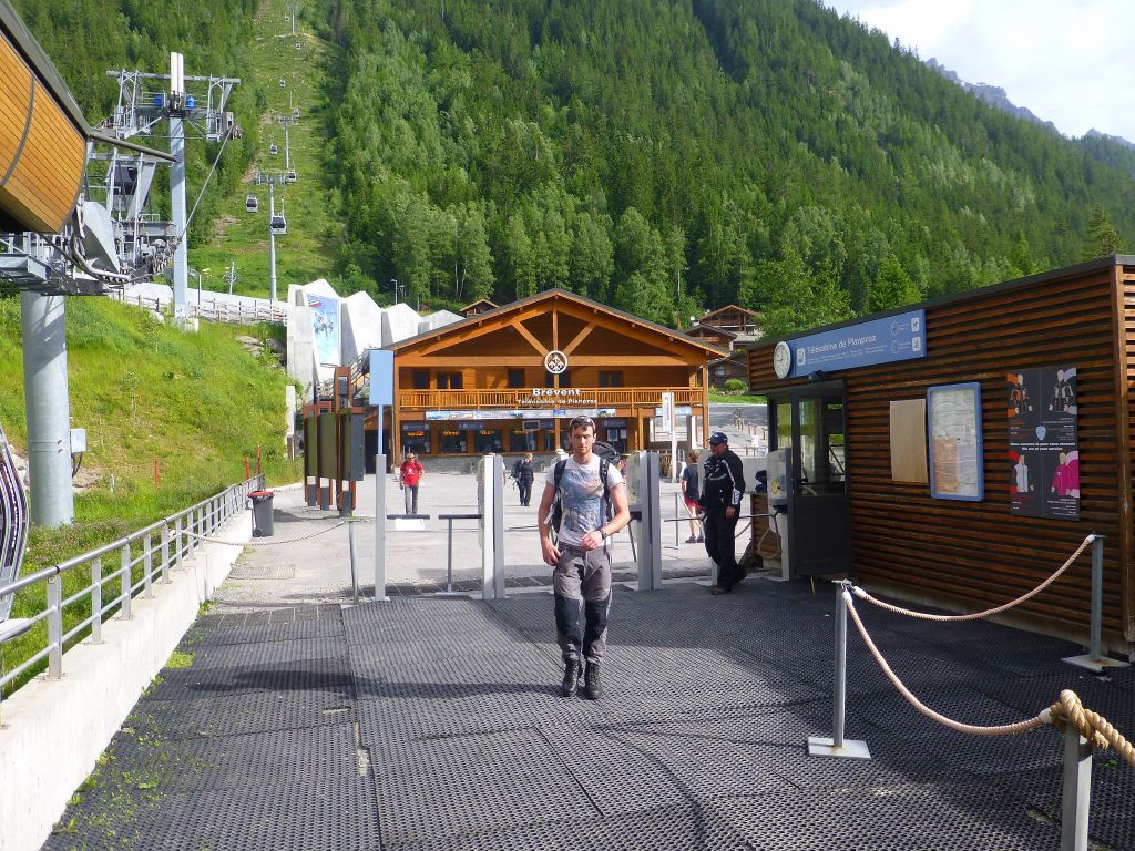 we went across to the Brevent lift instead