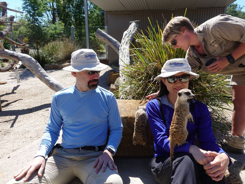 we then got some pictures with meerkats