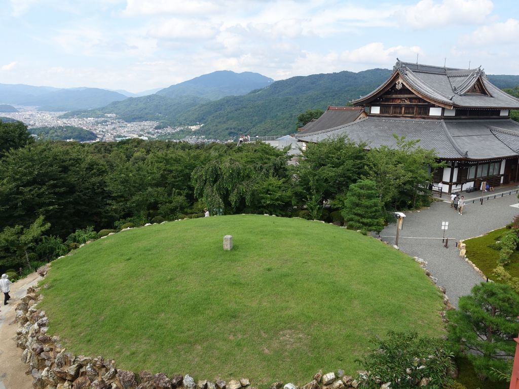 after our hike, we arrived at Shoren-in's Seiryu-den with a nice view of Kyoto