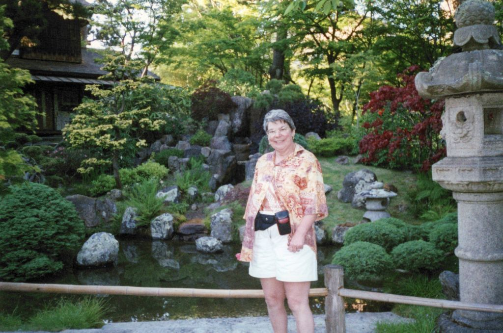 another year she came, we went to the Chinese and Japanese Gardens in Golden Gate Park