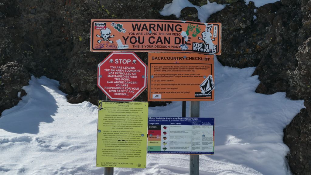 you have to hike far to see those signs