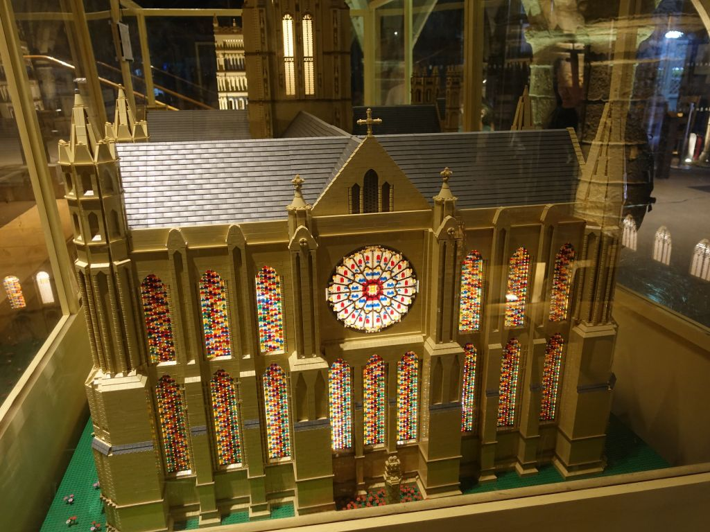 the cathedral got rebuilt in legos