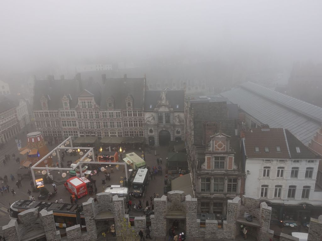 just like the rest of Ghent, the view wasn't fantastic due to fog