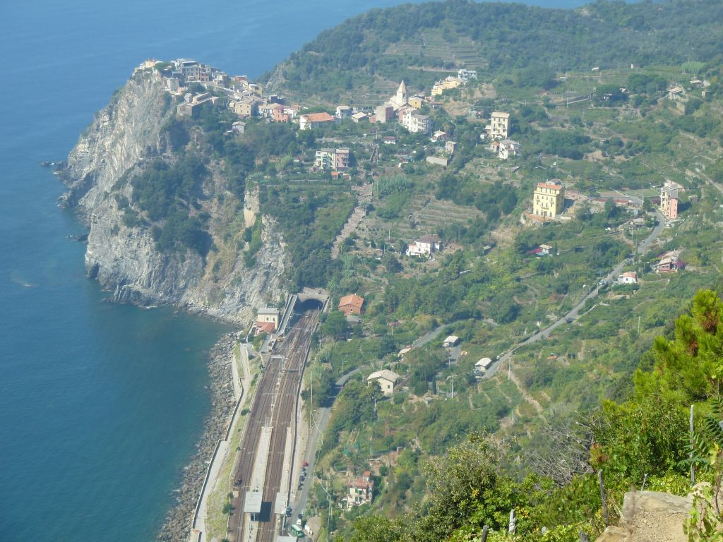 View of Corniglia from the top