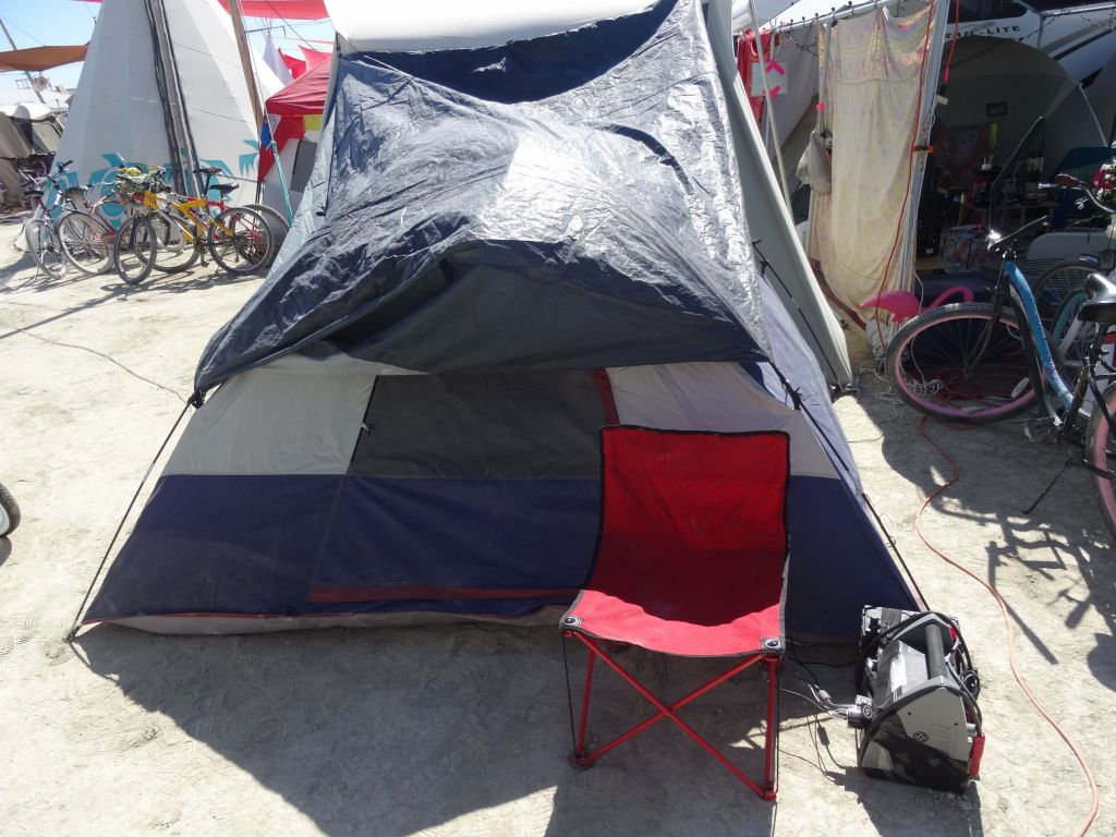 my tent with shade and power :)