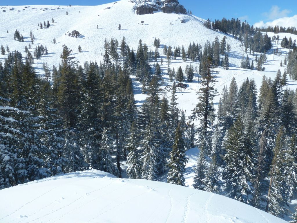 Got way by the ski line and ended up on top of chair 4