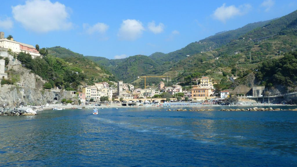 Arriving in Monterosso