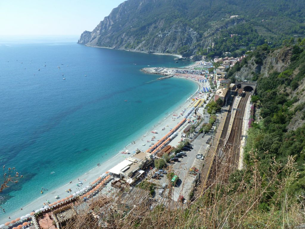 Second half of Monterosso, with the beaches, we took the scenic/high route there