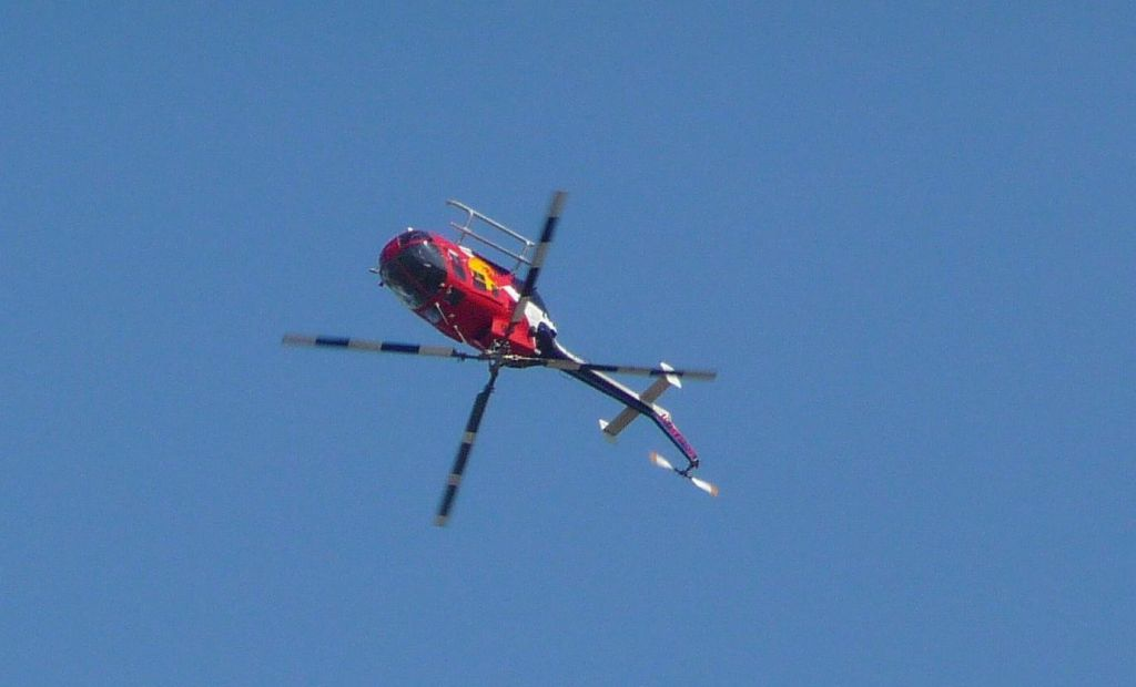 The Redbull Helicopter, still doing what helis aren't supposed to do