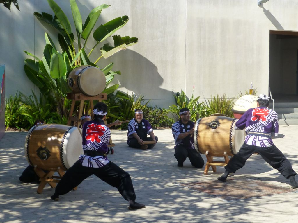 it was a special day with demonstrations, taiko drums here