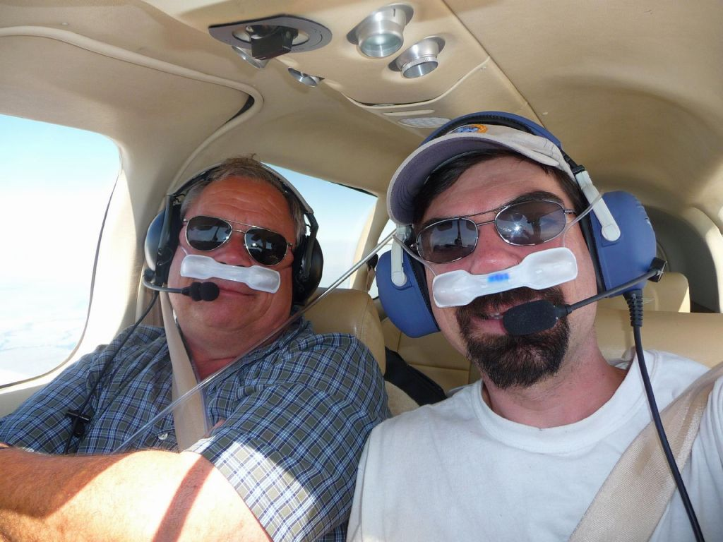 at least we were still able to fly high enough to benefit from O2 (headwinds died down as we proceeded forward)